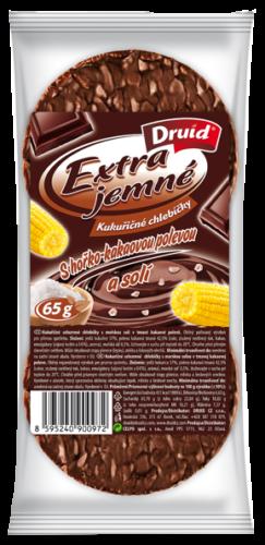 Extra Jemné Kukuričné celozrnné chlebíčky s kakaovou polevou a morskou soľou – 65 g