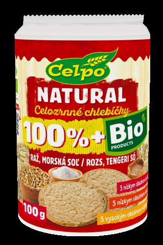 BIO Celozrnné chlebíčky raz morská soľ 100g