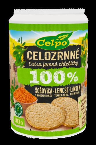 100 % Natural Šošovicové chlebíčky smorskou soľou 90g
